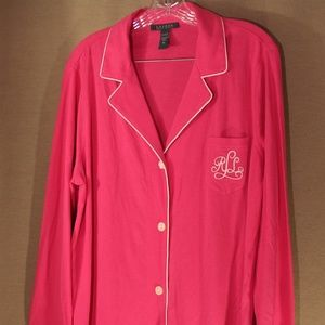 Ralph Lauren Women pink Slip Shirt Size XL NWT